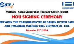 Lễ ký kết hợp tác cùng Công ty TNHH Hwacheon Machine Tool Việt Nam